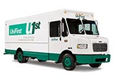 UniFirst laundry delivery van