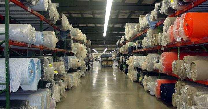 UniFirst warehouse stores a variety of quality materials