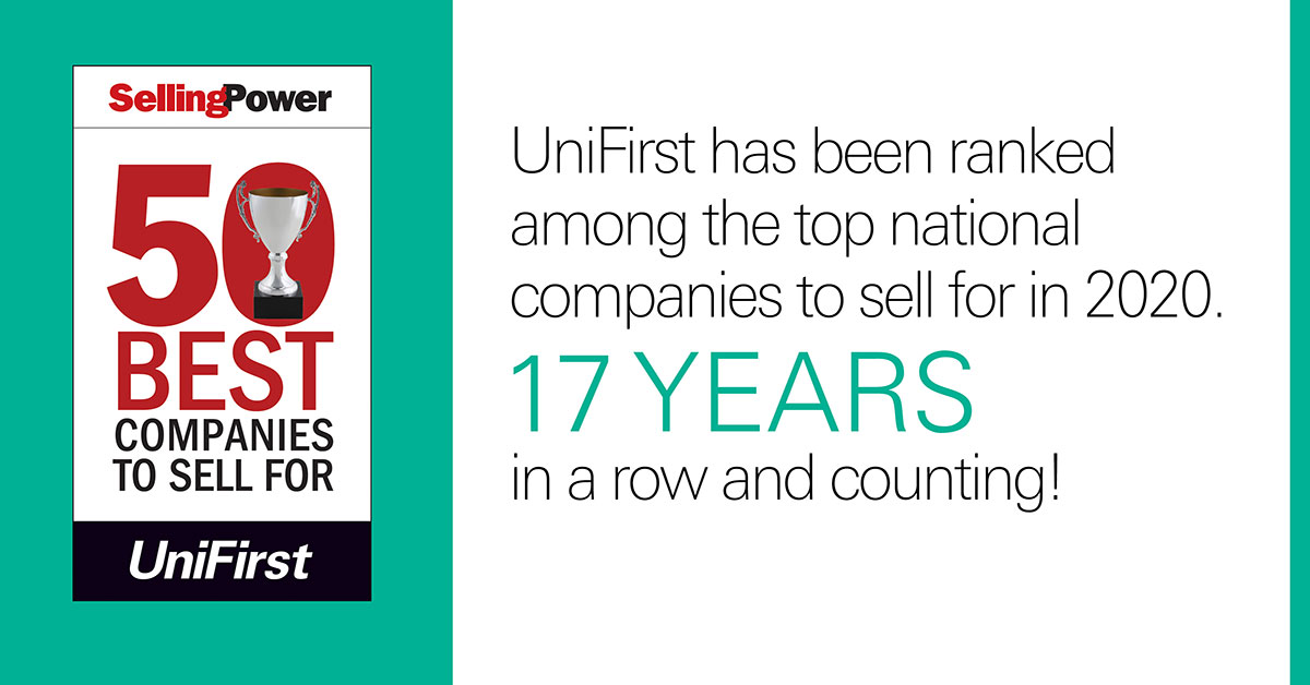 UniFirst on Selling Power's 50 Best Companies List