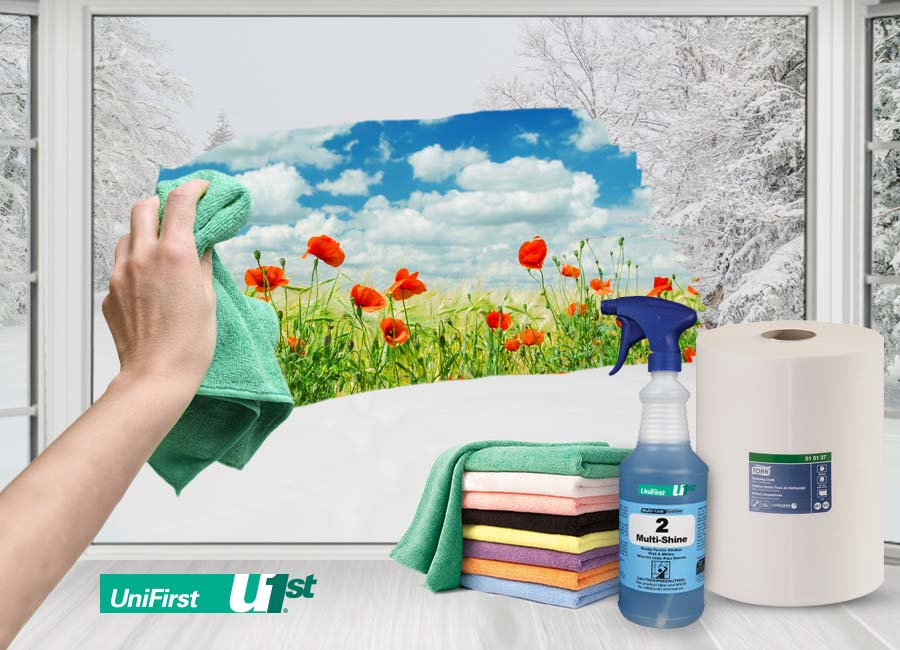 Spring cleaning with facility service products