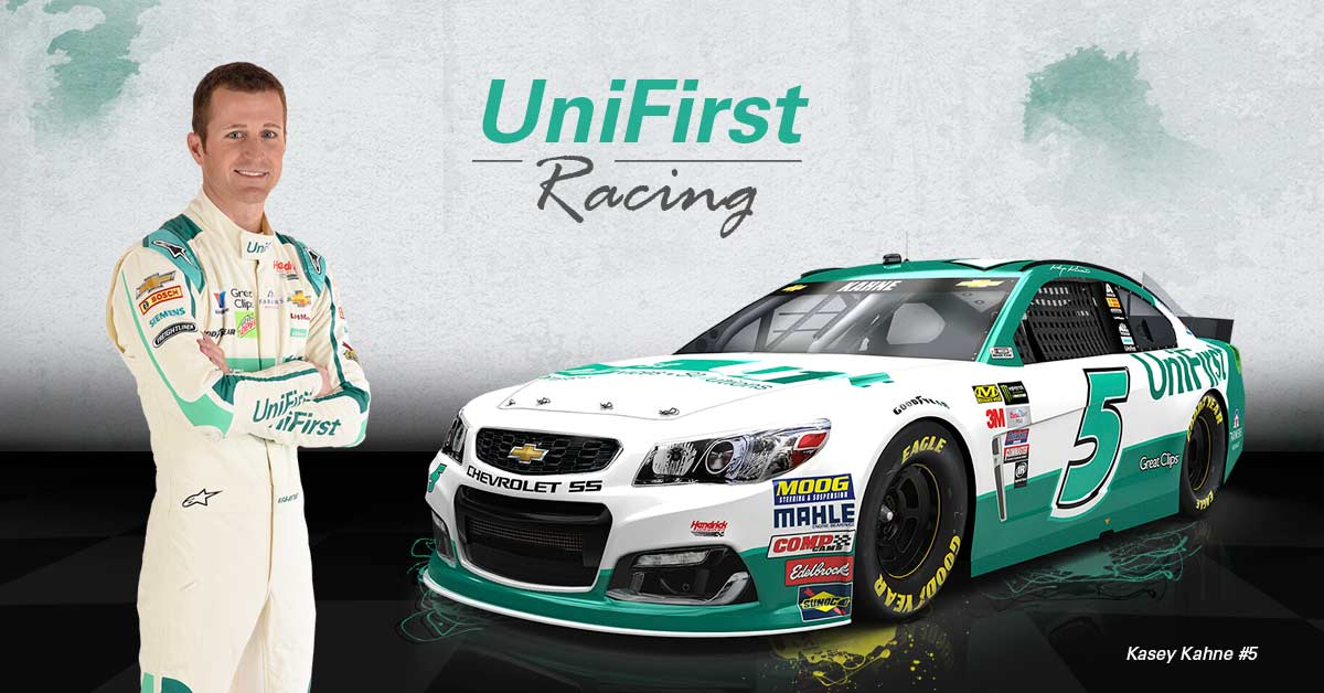 Kasey Kahne will drive the number 5 UniFirst Chevrolet SS at the Talladega 500 NASCAR Cup Series