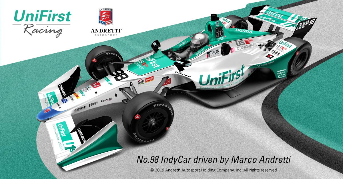 Marco Andretti Drives the Number 98 IndyCar