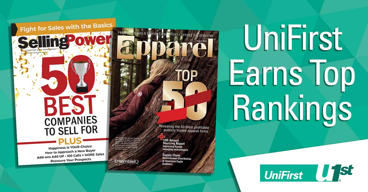 UniFirst earns top rankings in both Selling Power and Apparel magazines.