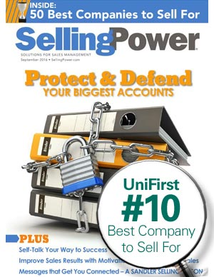 UniFirst ranked 10th best company to sell for by Selling Power magazine.