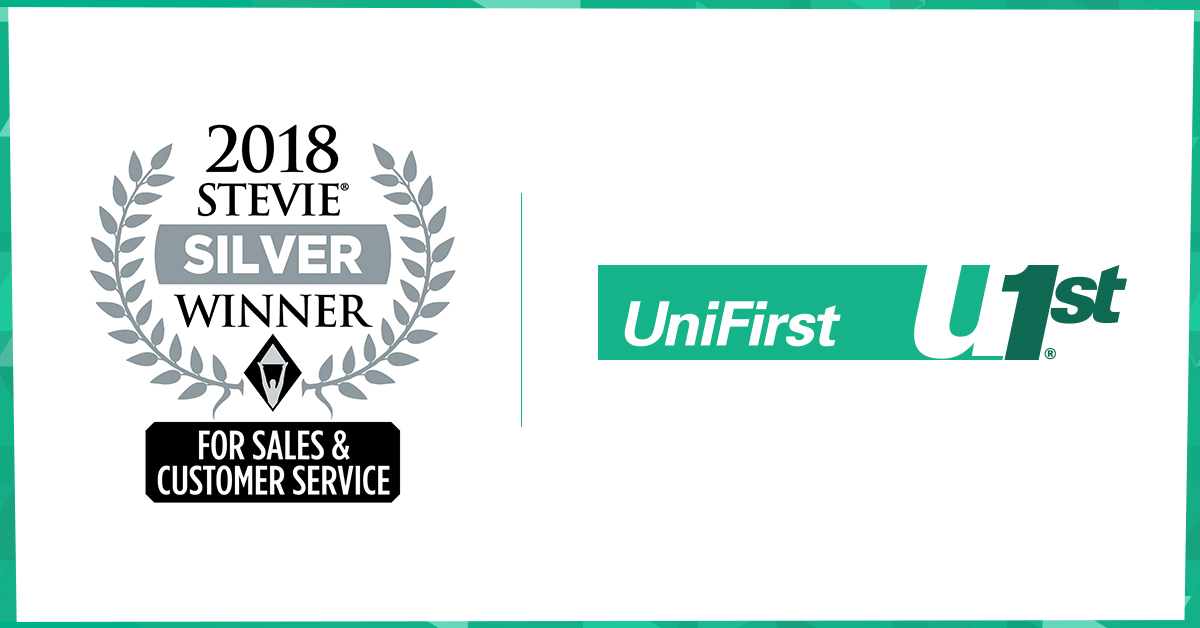 2018 Stevie Award Silver for Sales and Customer Service awarded to UniFirst.