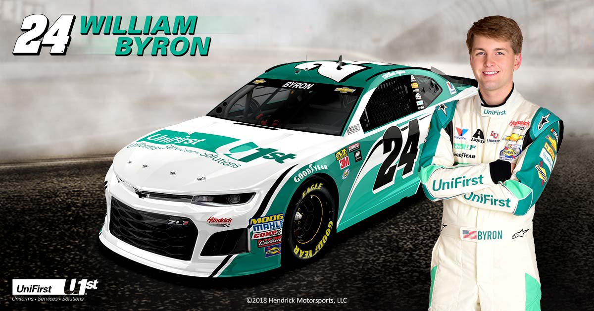 William Byron to drive UniFirst #24 at Kansas Speedway