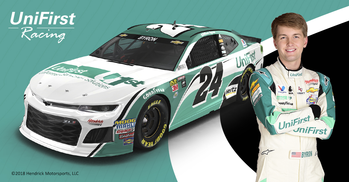 NASCAR driver William Byron to drive UniFirst #24 at Charlotte