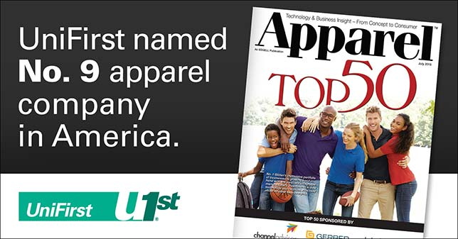 UniFirst named 9th best uniform services company by Apparel Magazine