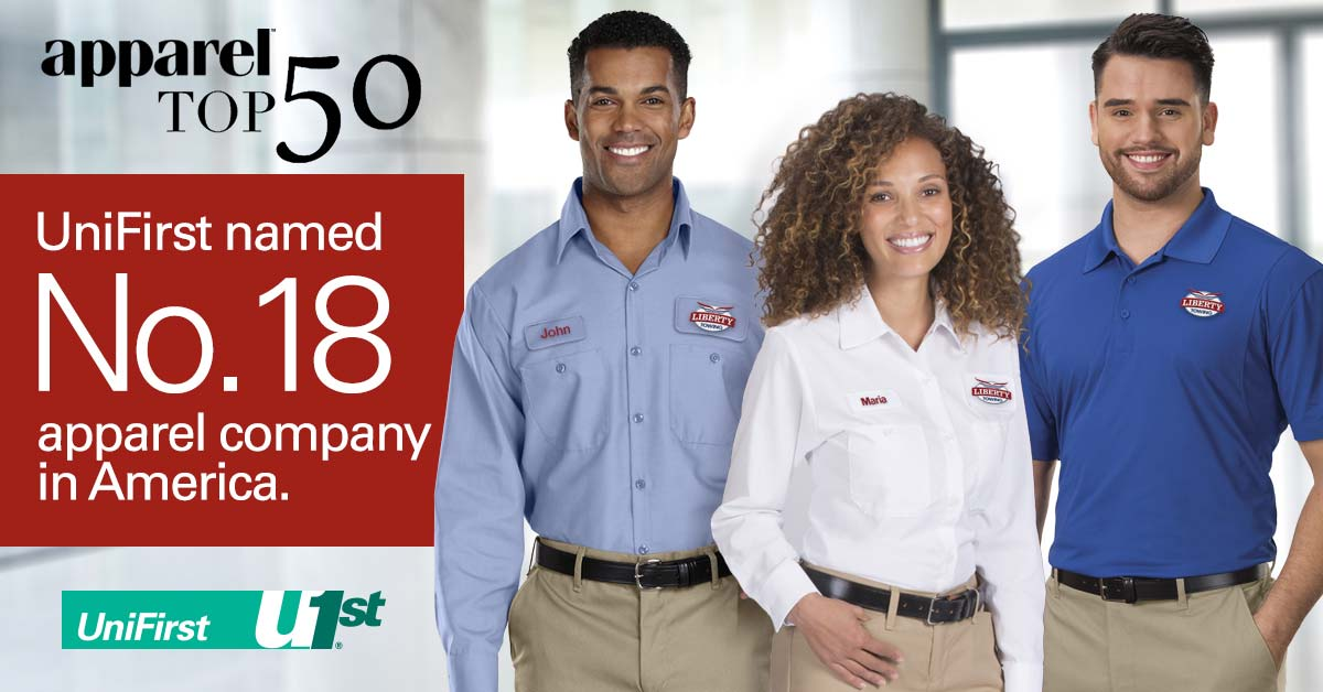 UniFirst named as the 18th best apparell company by Apparel Magazine