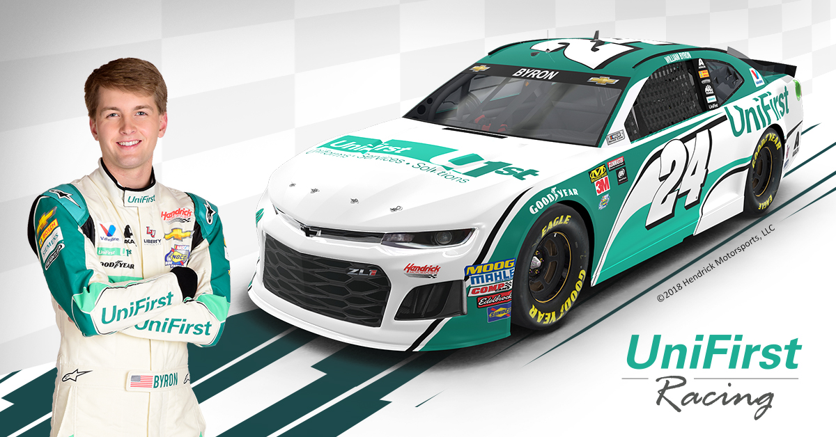 UniFirst new NASCAR race car design for driver William Byron