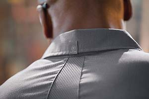 MIMIX logo on uniform collar