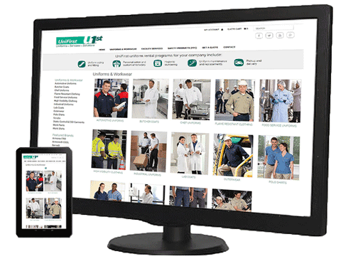 View our online Uniform and Workwear Rental Catalog