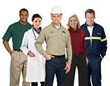 Workers from many industries in custom workwear