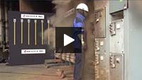 Arc-flash testing of FR workwear video