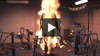 Flash fire testing of FR workwear video